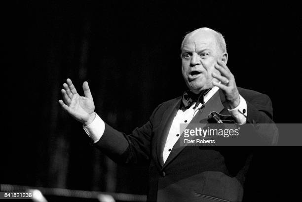 Don Rickles performing at Radio City Music Hall in New York City on April 19 1994 He was the opening act for Frank Sinatra