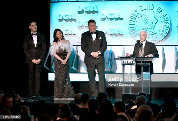Don Roy King accepts award for best Variety/Talk/News/SportsRegularly Scheduled Programming for Saturday Night Live 'Adam Driver Kanye West' onstage...