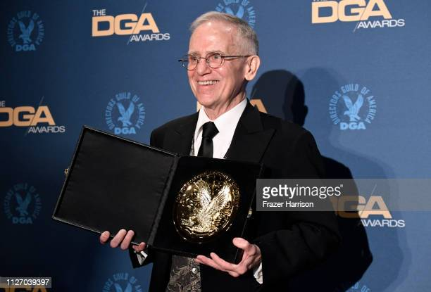 Don Roy King poses in the pressroom with award for best Variety/Talk/News/SportsRegularly Scheduled Programming for Saturday Night Live 'Adam Driver...