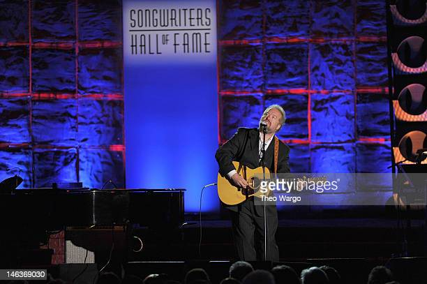 Don Schlitz performs onstage at the Songwriters Hall of Fame 43rd Annual induction and awards at The New York Marriott Marquis on June 14 2012 in New...