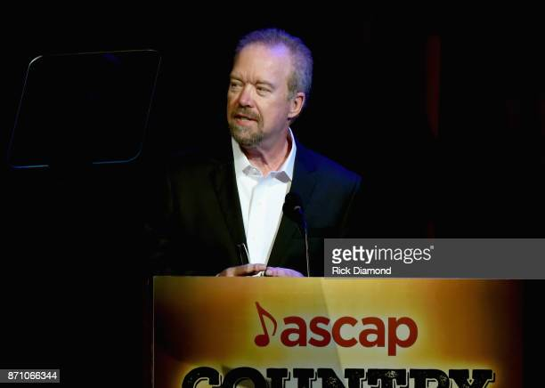 Don Schlitz speaks onstage during the 55th annual ASCAP Country Music awards at the Ryman Auditorium on November 6 2017 in Nashville Tennessee