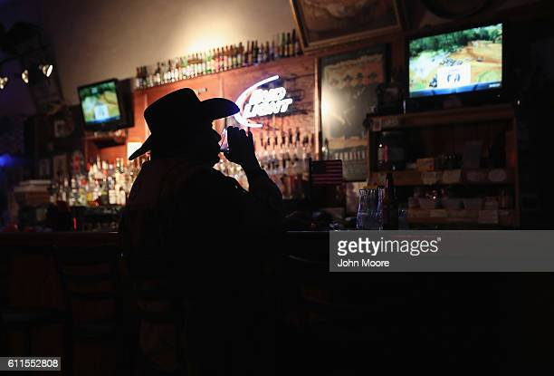Don 'Scottie' Scott 71 and retired drinks and watches television at the Doc Hollidays Saloon on September 29 2016 in Benson Arizona Tombstone was...