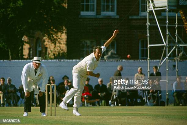 Don Shepherd bowling for Glamorgan during the John Player League match between Hampshire and Glamorgan at Southampton 16th August 1970