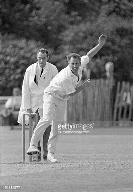 Don Shepherd bowling for Glamorgan during their match against Essex at Ilford, 3rd June 1968. Essex won by an innings and 84 runs.