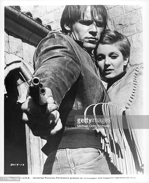 Don Stroud with Tisha Sterling in a scene from the film 'Coogan's Bluff' 1968