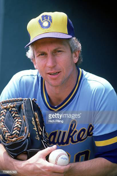 Don Sutton of the Milwaukee Brewers poses for a photo in August of 1983. Sutton played for the Brewers from 1982-1984.