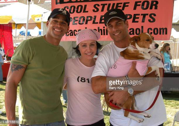 Don Swaby, Kelli McCarty and James Hyde during 3rd Annual Nuts for Mutts Dog Show 2004 at Pierce College in Woodland Hills, California, United States.