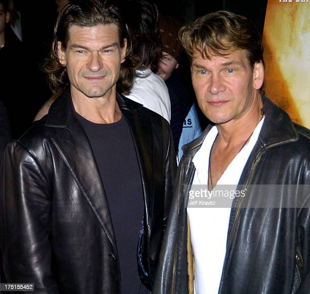 Don Swayze and Patrick Swayze during Kill Bill Vol 2 World Premiere Red Carpet at Arclight Cinerama Dome in Los Angeles California United States