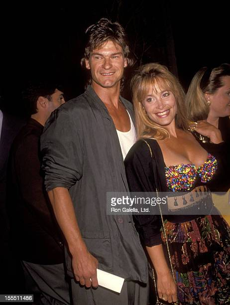 Don Swayze and wife Marcia Swayze attend the premiere of Point Break on July 10 1991 at Avco Center Theater in Westwood California