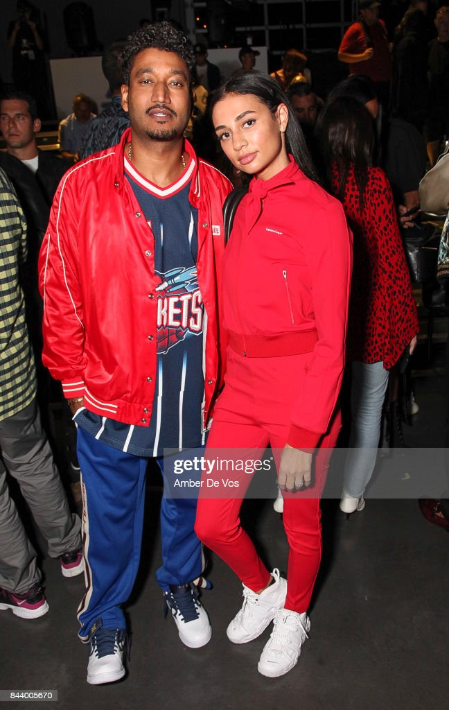 Don T and Model Kristen Noel Crawley attends Kith Sport fashion show at Classic Car Club on September 7, 2017 in New York City.