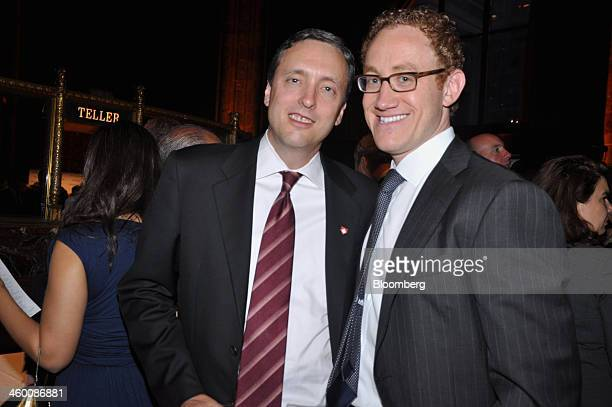 Don Truesdale, a managing director of Goldman Sachs Group Inc., left, and Todd Builione, president and chief executive officer of hedge funds at...