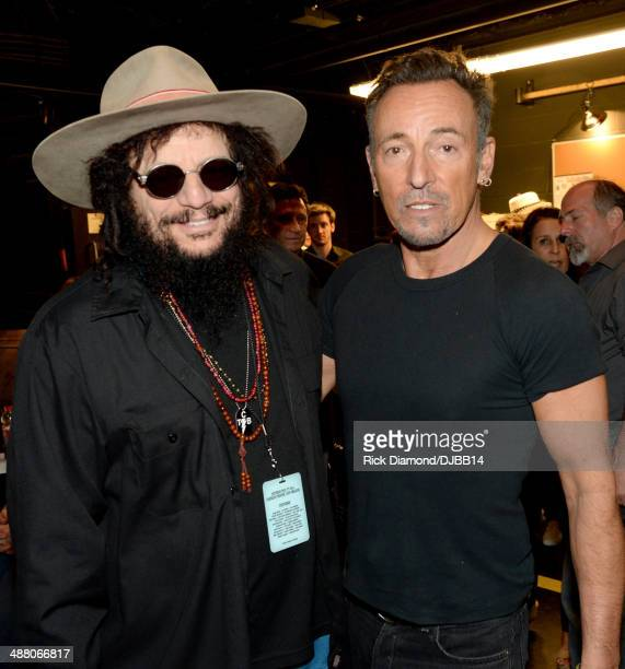 Don Was and Bruce Springsteen pose backstage during The Musical Mojo of Dr John A Celebration of Mac His Music at the Saenger Theatre on May 3 2014...