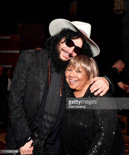 Don Was and Mavis Staples seen backstage during the 2019 Americana Honors Awards at Ryman Auditorium on September 11 2019 in Nashville Tennessee