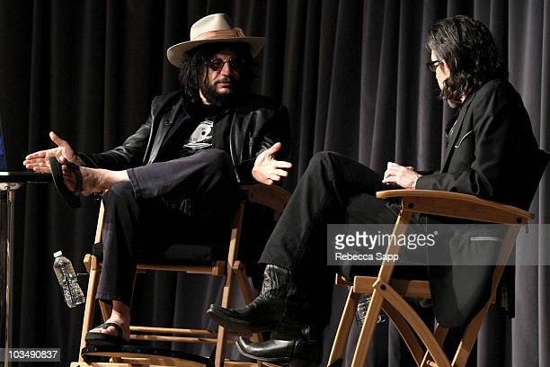Don Was and moderator Scott Goldman Vice President of The GRAMMY Foundation speak onstage during The Drop Exile on Main Street featuring Don Was at...