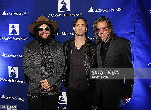 Don Was Dean Fertita and Vice President of the GRAMMY Scott Goldman at Living Histories Live An Evening with Iggy Pop and Don Was presented by the...