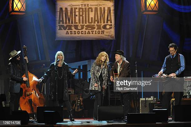 Don Was Emmylou Harris Allison Krauss Buddy Miller and Jerry Douglas perform during the 10th Americana Music Association honors and awards at the...