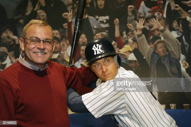 Don Zomer Derek Jeter's high school coach from Kalamazoo Central High attends the launch of a new interactive experience featuring a figure of...