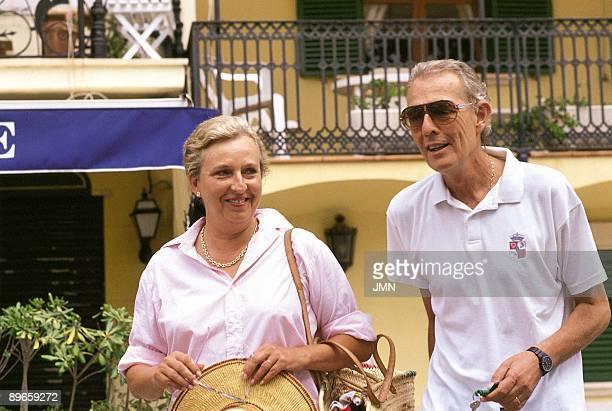 Dona Pilar de Borbon with her husband Luis Gomez Acebo dukes of Badajoz