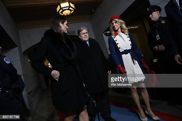 Dona'd Trump's White House Director of Strategic Communications Hope Hicks Senior Counselor Steve Bannon and Counselor to the President Kellyanne...