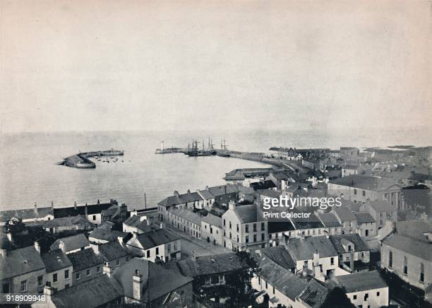 'Donaghadee View from the Church Tower Showing Harbour' 1895 From Round the Coast [George Newnes Limited London 1895]Artist Unknown