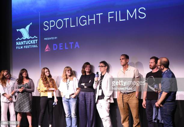 Donal Lardner Ward, Jeanne Tripplehorn, Damian Young, Elizabeth Crane, Nicole Cosgrove, Taylor Rose and Basil Tsiokos attend the 'We Only Know So...