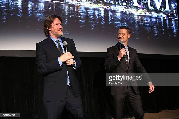 Donal Logue and Ben McKenzie speaks at the GOTHAM Series Premiere event on September 15 2014 in New York City