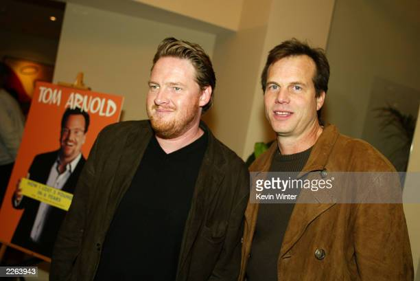 Donal Logue and Bill Paxton at Tom Arnold's book party at The Grafton Hotel in West Hollywood Ca Wednesday Oct 30 2002 Photo by Kevin...