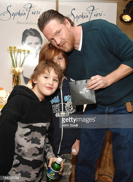 Donal Logue and guests at Sophia Fiori during HBO Luxury Lounge Day 1 at Four Seasons Hotel in Beverly Hills California United States