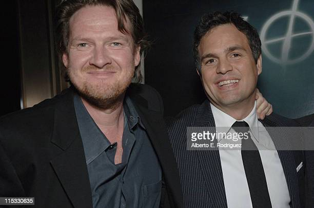 Donal Logue and Mark Ruffalo during 'Zodiac' Los Angeles Premiere Arrivals at Paramount Studios in Hollywood California United States