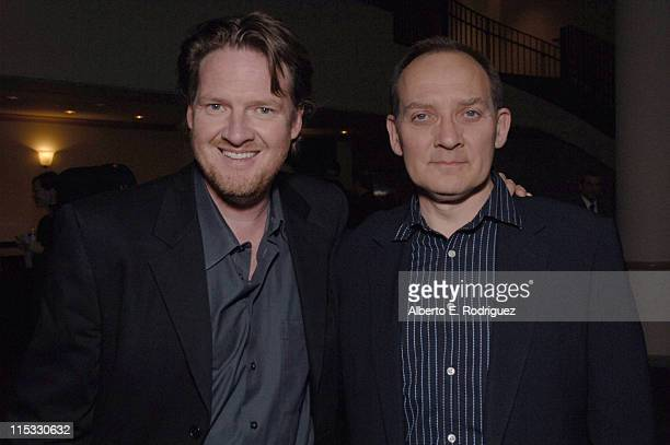 Donal Logue and Zach Grenier during 'Zodiac' Los Angeles Premiere Arrivals at Paramount Studios in Hollywood California United States