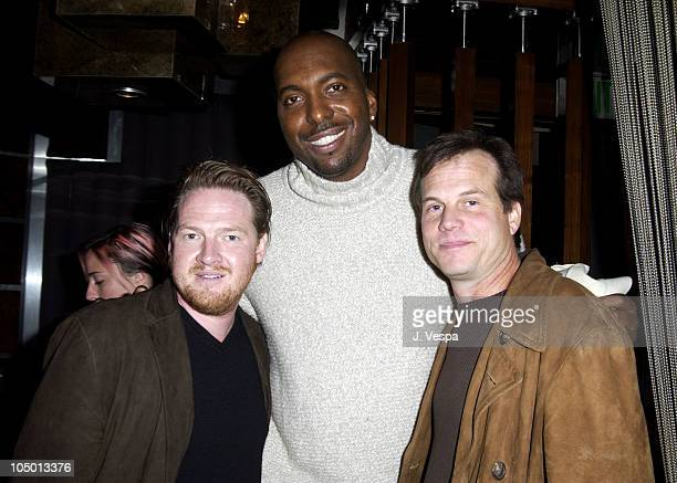 Donal Logue John Salley and Bill Paxton during Tom Arnold's How I Lost 5 Pounds in 6 Years Book Party at Balboa Lounge in Los Angeles California...