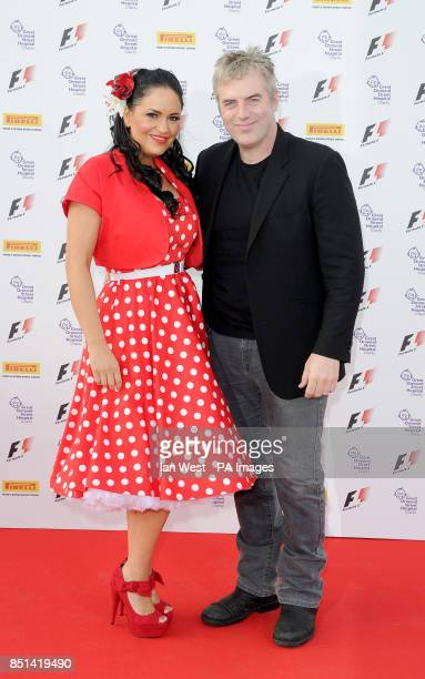 Donal MacIntyre and his wife Ameera De La Rosa arriving at the F1 Party in aid of Great Ormond Street Hospital Children's charity The party marks the...