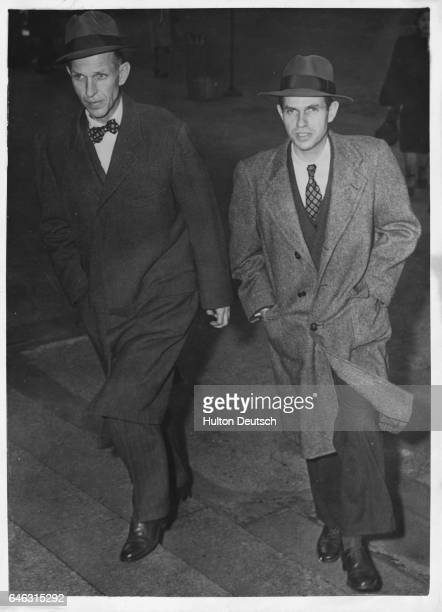 Donald and Alger Hiss accused of being members of the Washington Spy Ring arrive at the Federal Court in New York to testify Alger Hiss was convicted...
