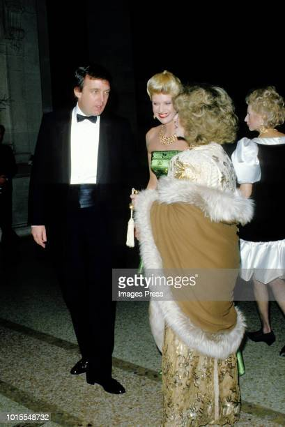 Donald and Ivana Trump at the MET Gala circa 1987 in New York City.