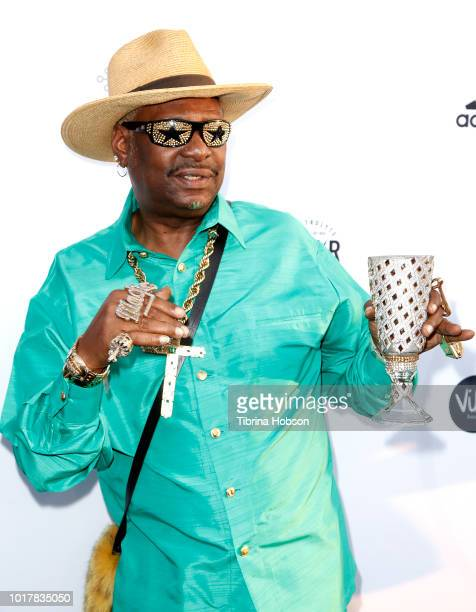 Donald Campbell aka Bishop Don 'Magic' Juan attends the 5th annual Athletes vs Cancer Celebrity Flag Football Game on August 12 2018 in Los Angeles...