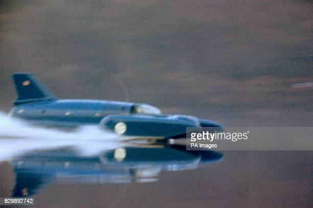 Donald Campbell's Bluebird hydroplane at speed on Coniston Water Lancs A theory about why the waterspeed ace's body was never recovered after his...