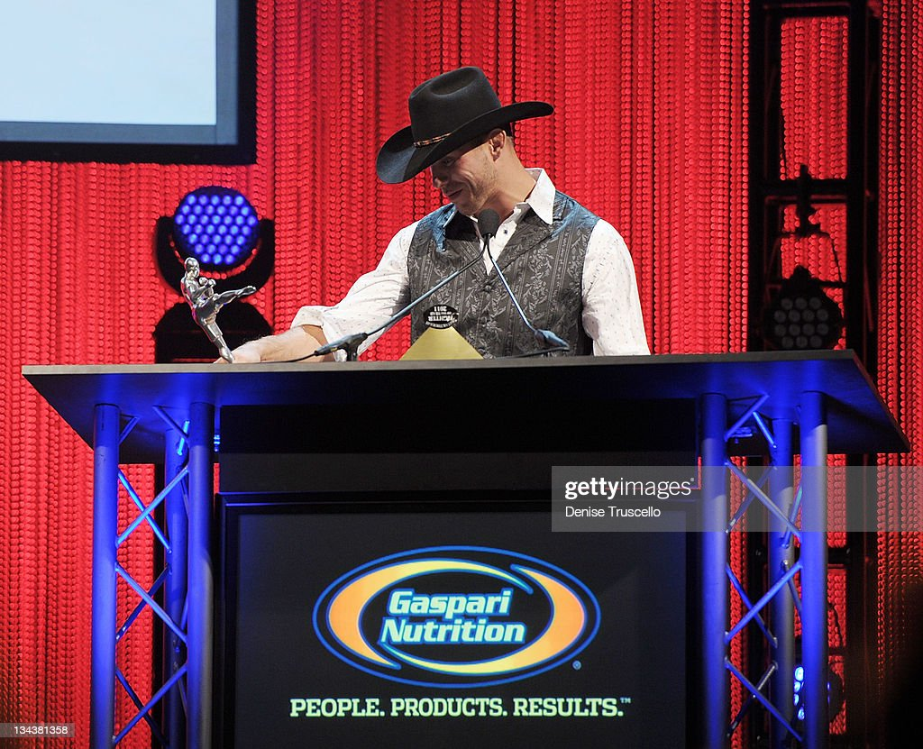 Donald Cerrone accepts the Breakthrough Fighter of the Year Award at the 2011 Fighters Only World Mixed Martial Arts Awards at the Palms Casino Resort on November 30, 2011 in Las Vegas, Nevada.