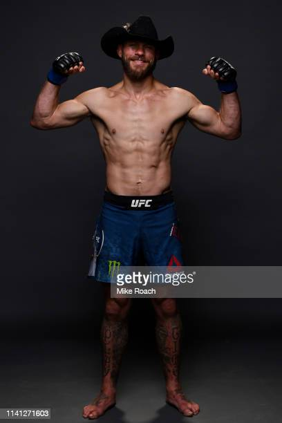 Donald Cerrone poses for a portrait backstage during the UFC Fight Night event at Canadian Tire Centre on May 4 2019 in Ottawa Ontario Canada