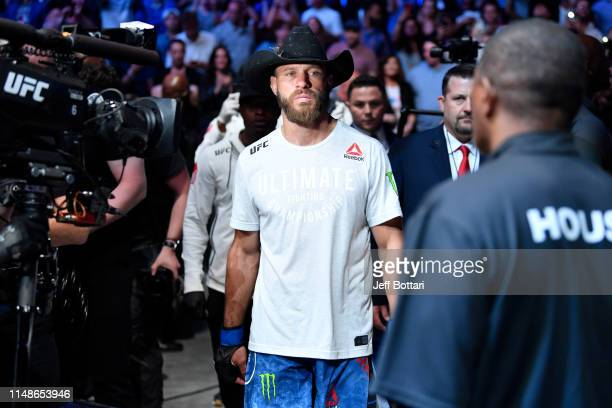 Donald Cerrone prepares to enter the Octagon prior to his lightweight bout against Tony Ferguson during the UFC 238 event at the United Center on...