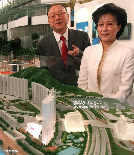 Donald Cheung Pingkeung General Manager Sales Department of Henderson Land Development Co Ltd and Barbara Ho Senior Manager Sales and Marketing of...