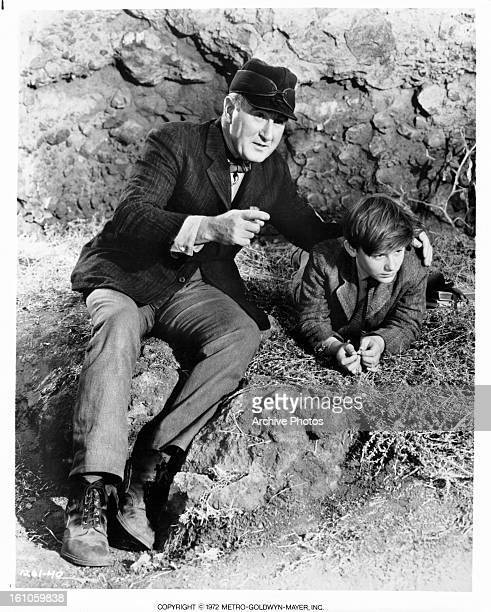 Donald Crisp guides Roddy McDowall in a scene from the film 'Lassie Come Home', 1943.