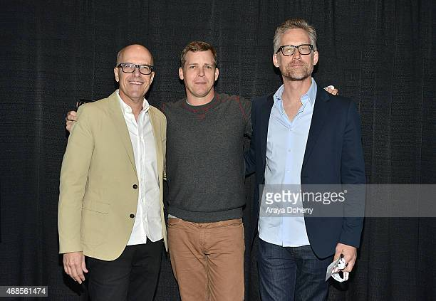"""Donald De Line, Tim Griffin and Reed Diamond attends """"Wayward Pines"""" Cast and Filmmakers press line WonderCon Anaheim 2015 at Anaheim Convention..."""
