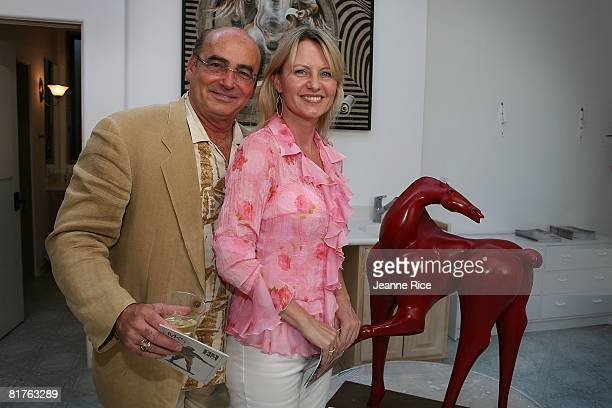 Donald Dino and Petra Van Essen pose at the Trigg Ison Fine art exhibit for the work of Maxine Kim StussyFrankel at her home June 28 2008 in Los...