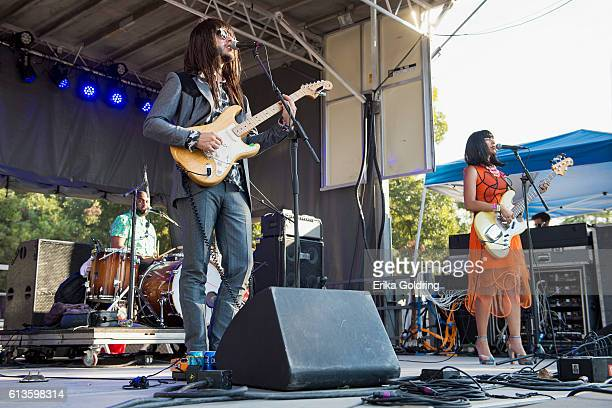 Donald 'DJ' Johnson Mark Speer and Laura Lee of Khruangbin perform during weekend two of Austin City Limits Music Festival at Zilker Park on October...