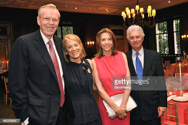 Donald Don Marron chairman and founder of Lightyear Capital LLC from left guest Diana Gray Catherine Marron chairman of New York Public Library and...