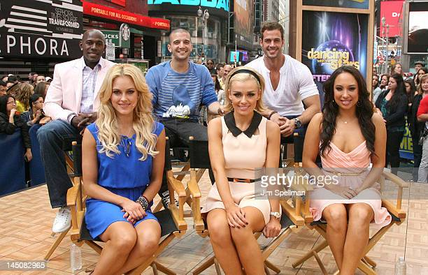 Donald Driver Peta Murgatroyd Mark Ballas Katherine Jenkins William Levy and Cheryl Burke perform on ABC's Good Morning America in Times Square on...