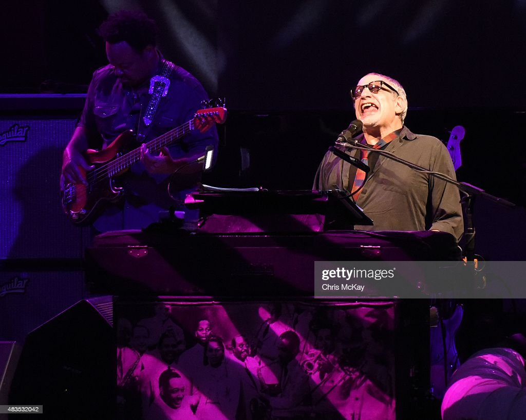Donald Fagen of Steely Dan performs at Chastain Park Amphitheater on August 9, 2015 in Atlanta, Georgia.