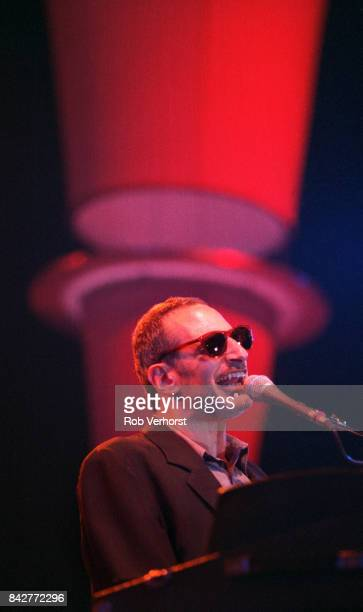 Donald Fagen of Steely Dan performs on stage at Ahoy Rotterdam 5th September 1996