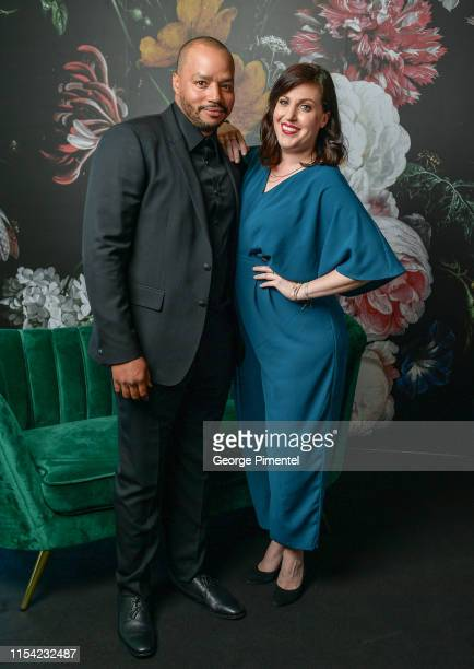 Donald Faison and Allison Tolman pose at the CTV Upfront Portrait Studio at Sony Centre For Performing Arts on June 06 2019 in Toronto Canada
