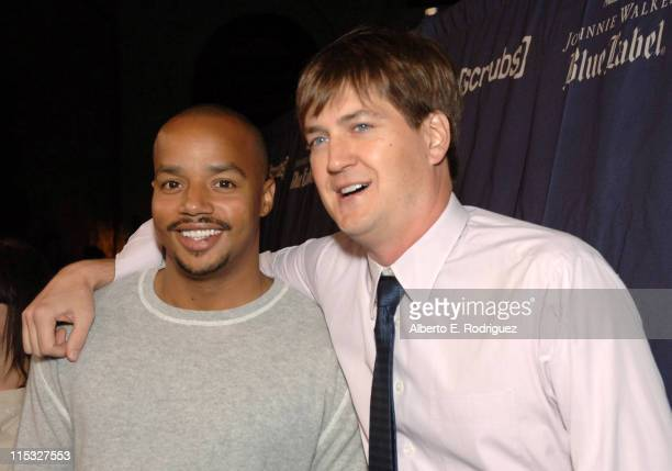 Donald Faison and Bill Lawrence during Esquire House and Johnnie Walker Blue Host Scrubs Season Six Celebration Red Carpet at Esquire House in...